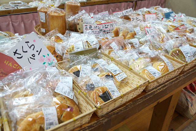 赤村の手作りパン